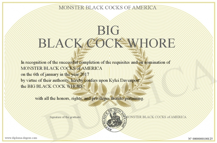 Big black cock whore