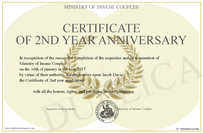 Certificate Of 2nd Year Anniversary,Types Of Hamsters Breed