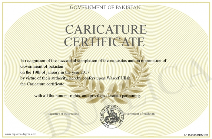 To ask for the deletion of the certificate below please click here