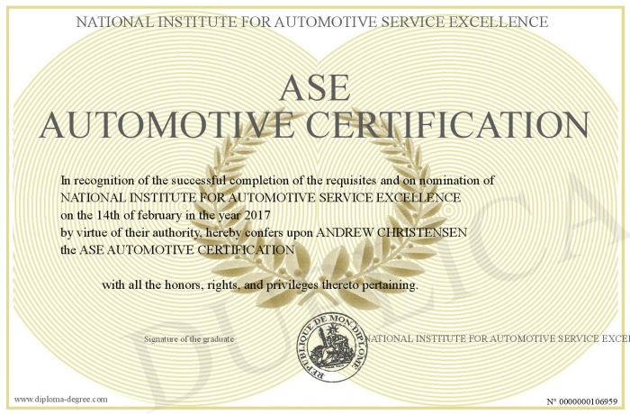 ASE-AUTOMOTIVE-CERTIFICATION