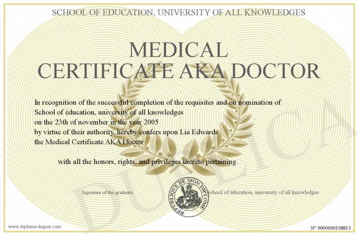 Medical Certificate From Doctor | Medical Certificate Aka Doctor
