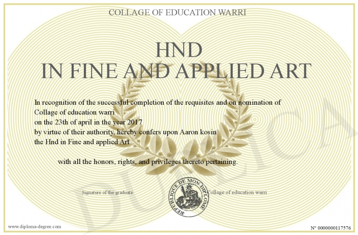 Hnd In Fine And Applied Art