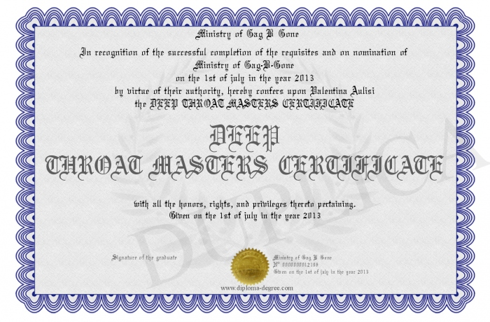 masters degree certificate