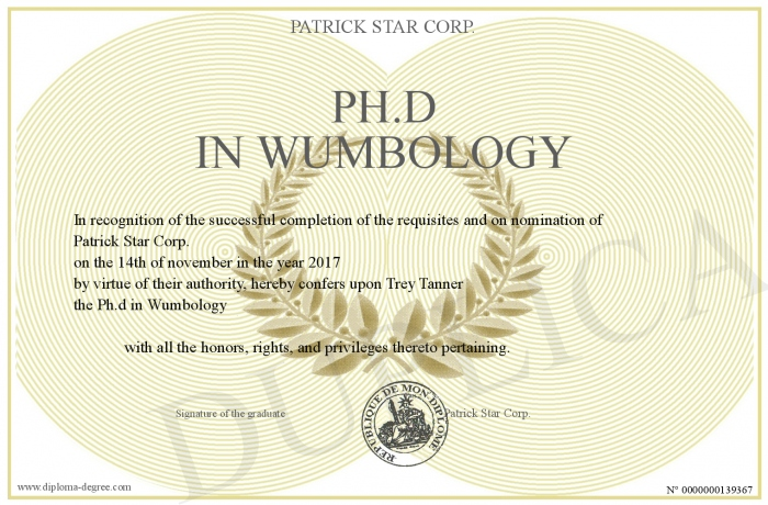 Ph.d-in-Wumbology