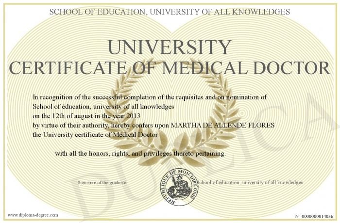 UniversityCertificateOfMedicalDoctor