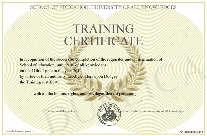 TrainingCertificate