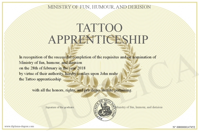 Tattoo-apprenticeship