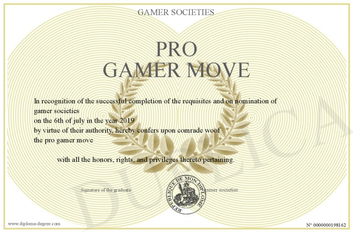 Pro Gamer Move If you're on a mobile device, you may have to first. diploma degree