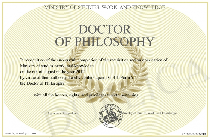 Doctor of philosphy