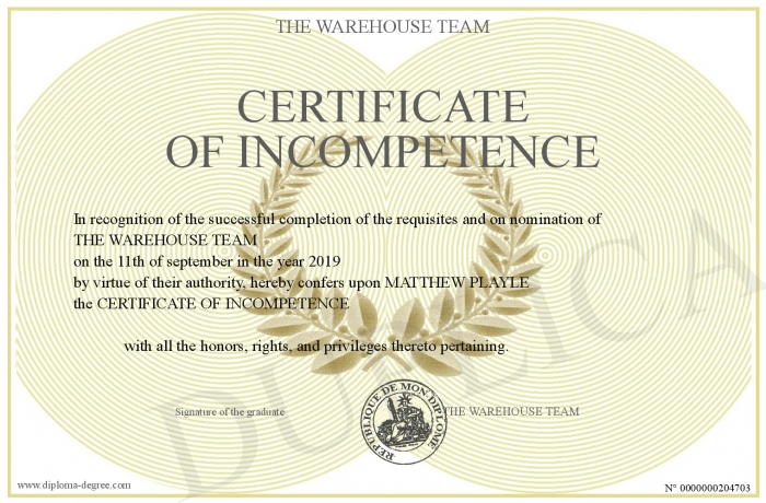 CERTIFICATE-OF-INCOMPETENCE