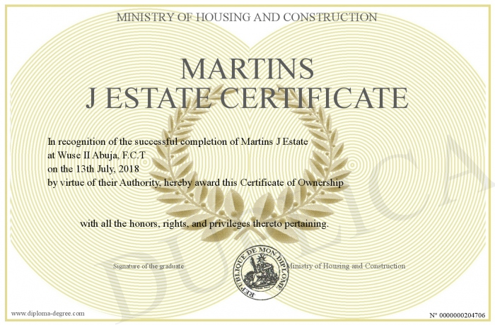 Martins-J-Estate-Certificate
