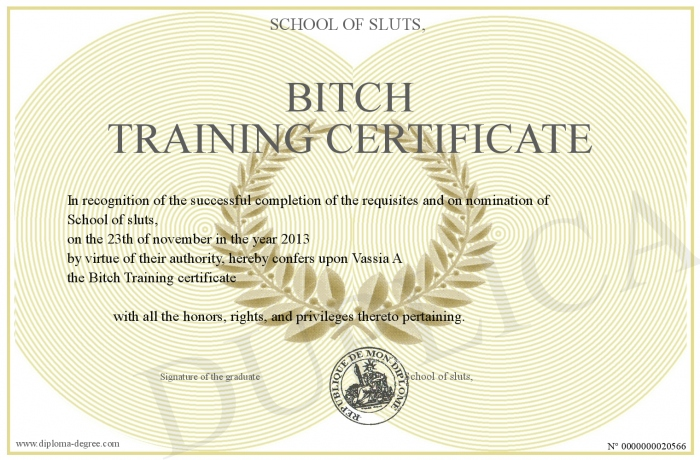BitchTrainingCertificate