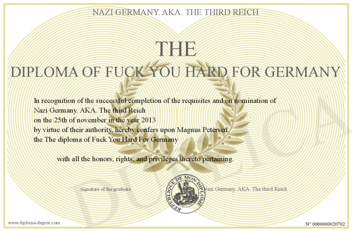 the diploma of fuck you hard for