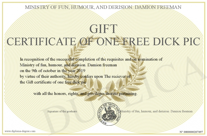 Gift-certificate-of-one-free-dick-pic