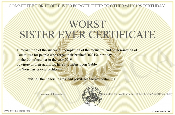 Worst-sister-ever-certificate