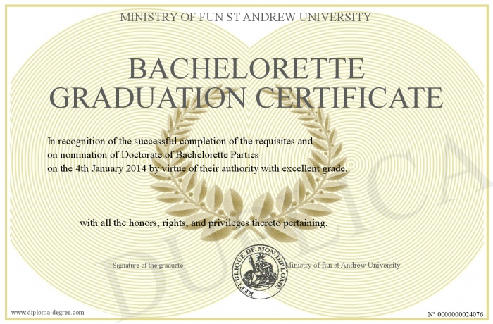 BacheloretteGraduationCertificate
