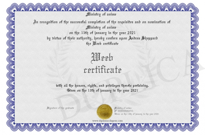 Weeb-certificate