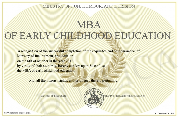 Early Childhood Education order college degree