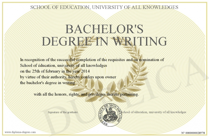bachelor s degree in writing