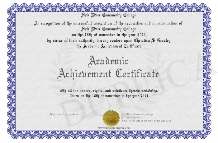 academic achievement certificate