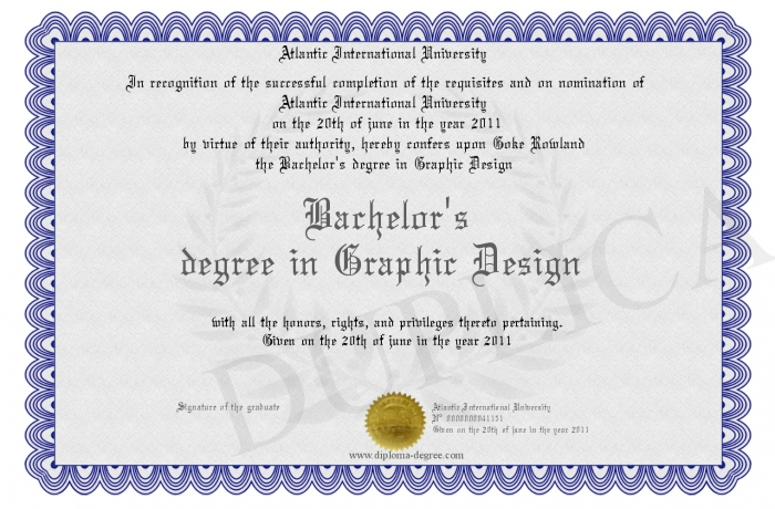 Bachelor S Degree In Graphic Design