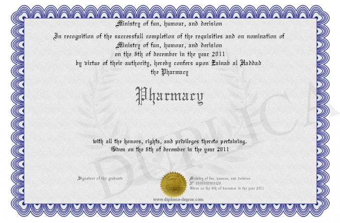 Pharmacy degrees courses