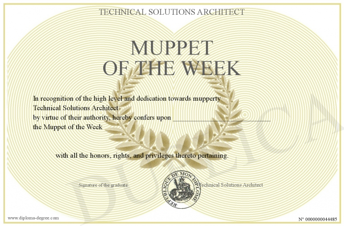 Muppet Of The Week