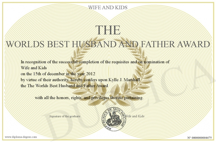 The worlds best husband and father award yadclub Image collections