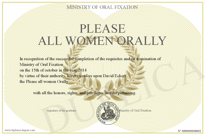 How to orally please a woman