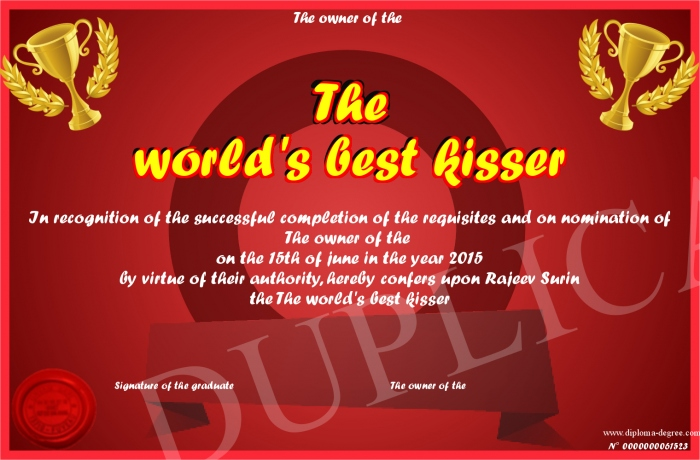 who is the best kisser in the world