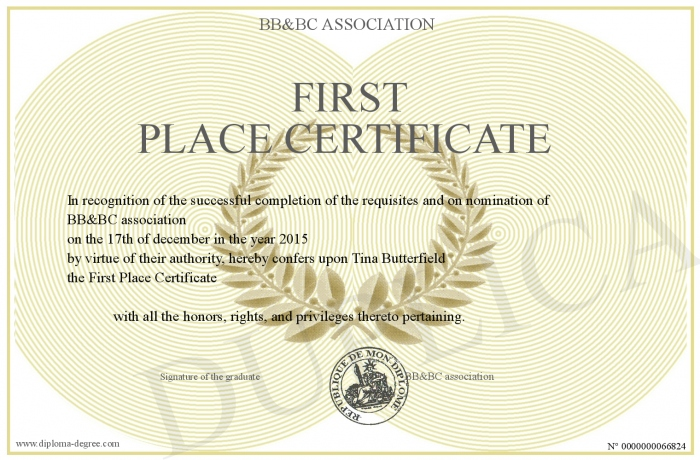 First-Place-Certificate