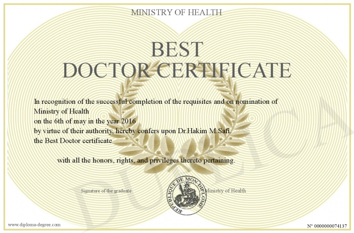 Best-Doctor-certificate