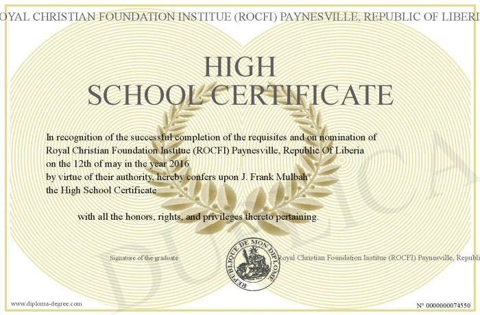High-School-Certificate