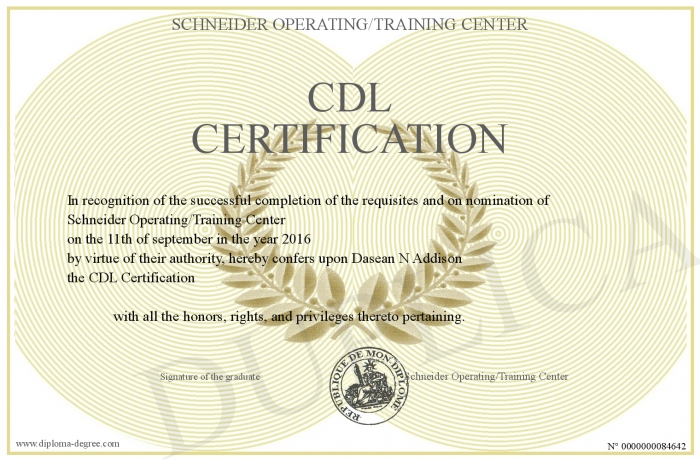 CDL-Certification