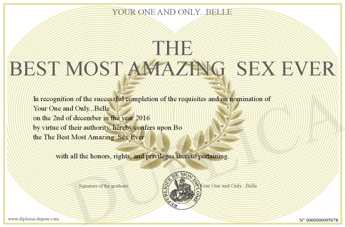 the most amazing sex ever