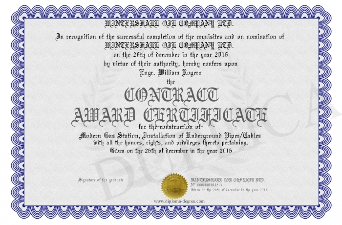 CONTRACT-AWARD-CERTIFICATE