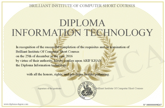 technology diploma degree certificate deletion ask below order